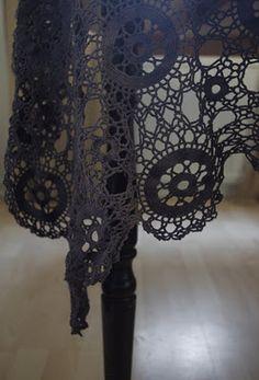 Crochet Lace Black Schwarz Häkeln Spitze