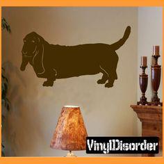 basset hound Dog Wall Decal - Vinyl Decal - Car Decal