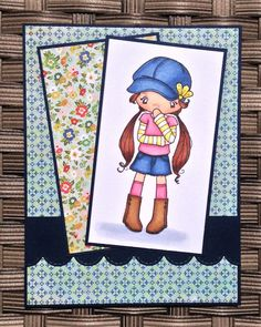 The Greeting Farm - Miss Anya Hats Off. Card by Mocha Frap Scrapper