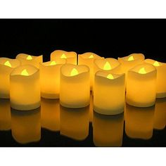 Novelty PlaceLongest Lasting Battery Operated Flickering Flameless Led Votive Candles Pack Operatedled Tea Lightstea
