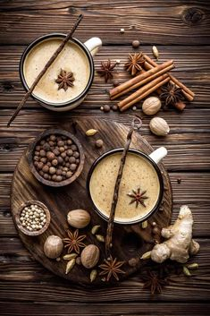 """In reality, what most people know as """"chai tea"""" is actually (masala chai). Masala chai is an Indian beverage that's made from strong black tea and spices. Tea Recipes, Indian Food Recipes, Coffee Recipes, Masala Chai, Coffee Photography, Food Photography, Coffee Art, Coffee Shop, Drink Coffee"""