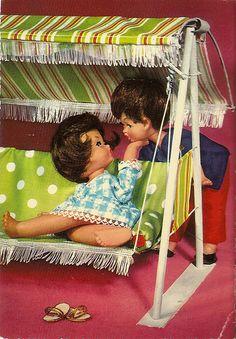 dolls in the swing