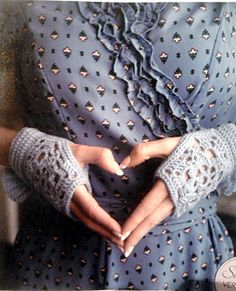 Vintage Lace Wristwarmers - pattern by Brenda K. B. Anderson is in Simply Crochet Issue 2