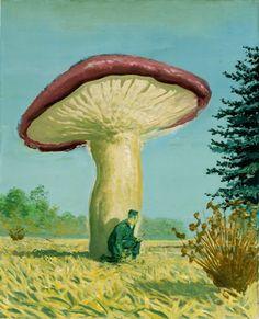 Neo Rauch hides behind a magic mushroom.