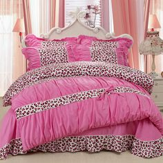 YADIDI 100% Cotton Classic Princess Polka Dot Girls Bedding Sets Bedroom Bed Sheet Duvet Cover Pillowcase Twin Queen King size #Affiliate