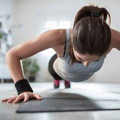 Mit Liegestütze werden Arme und Schultern trainiert.