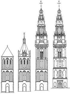 Image result for tekening westertoren, oudekerk toren