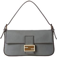 Fendi Grey Leather Baguette