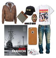 """pulp fashion"" by brandi-hughes on Polyvore featuring Cult of Individuality, adidas Originals, Gucci, DamnDog, Moshi, KLP, men's fashion and menswear"