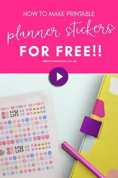 If you love free planner printables then you need to watch this video tutorial that teaches you how to make planner stickers for free! Stay organized and ultra productive with these free printable planner stickers and learn how to make your own without photoshop. Become incredibly organized by using your planner and get motivated by pretty planner decorating ideas to keep using the planner and making time for what matters! #videotutorial #stickers #printable #planner #plannerprintables Free Planner, Happy Planner, Planner Ideas, Printable Planner Stickers, Free Printables, Planner Decorating, Decorating Ideas, Bullet Journal Printables, Bullet Journals