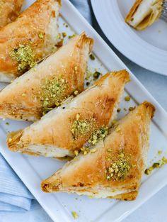 Lebanese Desserts, Lebanese Cuisine, Lebanese Recipes, Lebanese Baklava Recipe, Arabic Dessert, Arabic Sweets, Arabic Food, Middle Eastern Desserts, Phyllo Dough