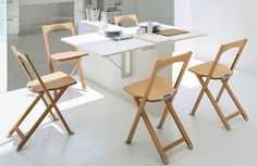 Folding Kitchen Tables Arm Chairs 65 Best Decor Hidden Images Dining Redo 10 Ideas To Use Small On A Shelterness