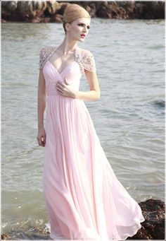 Evening Dresses :: Frosted Pink Special Occasion Dress - Wedding Dresses, Evening Dresses, Gowns