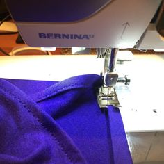 Here's a helpful tip for sewing a stable, flat hem in a stretchy knit fabric from Julie at Jet Set Sewing!