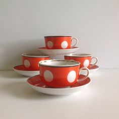 coffee cups / vintage teacups / cups and saucers by BicoEstonia
