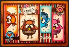 A card with cute owls made by-DT Linda S http://blog.pysseldags.com/2014/01/goa-ugglor.html