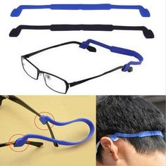 Anti-skid Sports Glasses Ropes High Elastic Basketball Football Fishing Glasses Belts Soft Silicone Straps for all ages Sports Glasses, Oakley Sunglasses, Eyewear, Basketball, Football, Ropes, Belts, Fishing, Sew