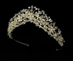 Enchanting Gold Crystals Wedding Bridal Tiara Melissa Kay Collection. $84.95