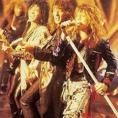 Bon Jovi live during the New Jersey era.