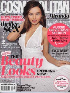 Hot Cosmo covers you've never seen! Miranda Kerr, Australia, February 2012