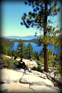 Cascade Lake and Lake Tahoe off in the distance. Take time to hike Cascade Falls this summer and take in views like this. Vacation Trips, Vacation Ideas, Day Trips, Vacations, Lake Tahoe Hiking, South Lake Tahoe Ca, Great Places, Beautiful Places, Places To Visit