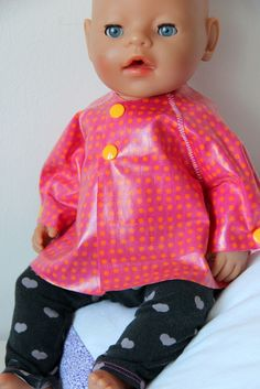Baby Born Raincoat for the doll ♥ raincoat for dolls {DIY} Baby Raincoat, Vinyl Raincoat, Mens Raincoat, Child Doll, Baby Dolls, Baby Born Kleidung, Toddler Girl, Baby Kids, Baby Born Clothes