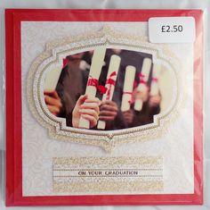 £2.50 6x6 card on your graduation
