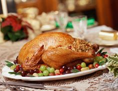 Turkey dinner. Click image to learn the history behind this tradition.