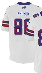 "$78.00--David Nelson White Elite Jersey - Nike Stitched Buffalo Bills #86 Jersey,Free Shipping! Buy it now:click on the picture, than click on ""visit aliexpress.com"" In the new page."