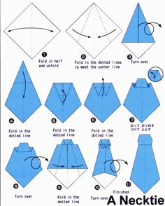 How to make an Origami Neck Tie! How to make an Origami Neck Tie! Origami Tie, Origami Shirt, Origami Paper, Origami Boxes, Dollar Origami, Origami Ball, Oragami, Origami Tattoo, Origami Dress