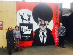 Phil Lynott, Thin Lizzy mural at Dalymount Park