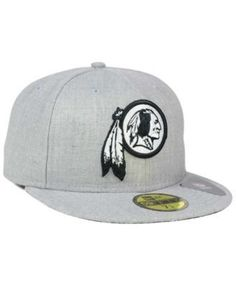 0fe027b0d New Era Washington Redskins Heather Black White 59FIFTY Fitted Cap - Gray 6  7 8