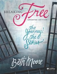 Breaking Free: The Journey, The Stories - Member Book by Beth Moore leads you through a study of the Scriptures to discover the transforming power of freedom in Jesus Christ. Themes for this study come from Isaiah, a book about the captivity of God's children, the faithfulness of God, and the road to freedom.