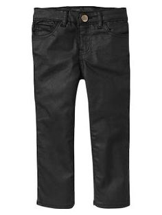 Waxed skinny jeans - Introducing the new black denim: In a full range of shades and washes. Its cool. Without even trying.