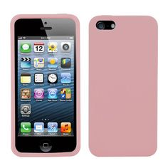 MYBAT Silicone Soft Skin Case for iPhone 5/5S - Pink