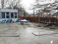 Pingpongtafel Afgerond Blauw bij Basisschool De Molenhoek in Oisterwijk