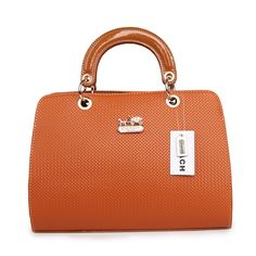 #COACHOUTLETS Coach Fashion Signature Medium Tan Satchels BSF