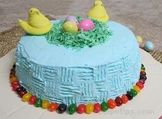 An eye-catching and delicious Easter cake recipe that everyone will love. Visit our site for this Easter cake recipe along with an Easter Egg Pie recipe, Easter Cupcakes, and other Easter recipes. Easter Cupcakes, Easter Cake, Cake Recipes, Dessert Recipes, Desserts, Coconut Jelly, Cake Platter, Malted Milk, Artists