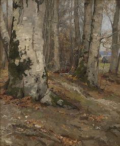 Skogsinteriør med bøk, 1895, Jahn Ekenæs