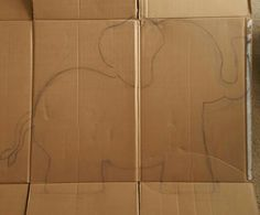 Card board box Baby Elephant. I draw an elephant and cut it out. Ear is also cut to pop out.  Prop is great for a Woodland, zoo, jungle, lion King or safari theme party / event. Baby shower photo booth prop in working progress. Will cover and decorate next. Photo # 1/8 Safari Theme Party, Circus Party, Party Themes, Party Ideas, Jungle Lion, Baby Shower Photo Booth, School Week, The Little Prince, Photo Booth Props