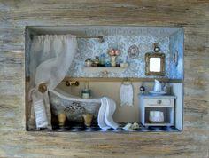 Baño turquesa, piedra hecho por encargo. http://cruzatartesaniacolor.blogspot.com/