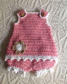 Crochet Sunsuit 9 to 12 Months Lauren PATTERN | Etsy