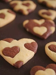 Image shared by Sonia Smith. Find images and videos about love, food and sweet on We Heart It - the app to get lost in what you love. Cupcakes, Cupcake Cookies, Heart Cookies, Sugar Cookies, Heart Shaped Cookies, Cookie Favors, Baby Cookies, Flower Cookies, Shortbread Cookies
