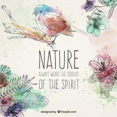 Hand drawn natural elements