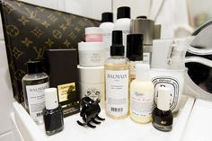 Bathroom beauty cosmetics bag vanity styling