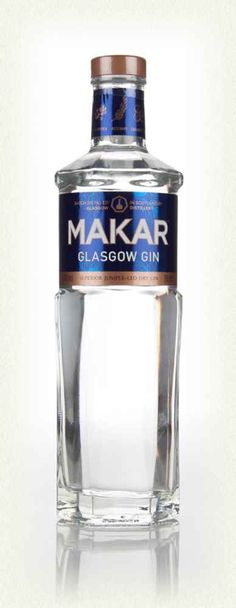 """The first product from the recently opened Glasgow Distillery Company, in the city of Glasgow is Makar Gin, launched in 2014 and named after the Gaelic word for """"poet"""" or """"bard"""". Alcohol Bottles, Gin Bottles, Whisky, Juniperus Communis, Gins Of The World, Gin Tasting, Gin Brands, Gin Lovers, Relaxer"""