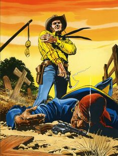 villa First Animation, Animation Film, Comic Book Characters, Comic Books, Westerns, Pulp Fiction Art, Western Comics, West Art, Cowboy Art