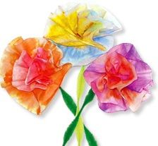 Make these beautiful coffee filter flowers with your children for #CincoDeMayo or just for fun!  Great spring project for kids and adults.