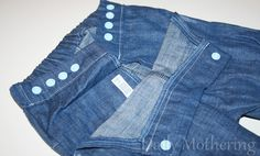Project Pomona Pants Cloth Diaper Jeans Review  Jeans made specifically to fit over cloth diapers!