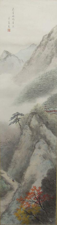 Landscape by Ono Chikkyo 小野竹喬 (1889-1979).